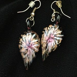Jewelry - Dichroic Glass Sea Coral Earrings